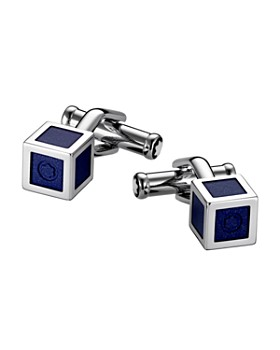 Montblanc - Lacquered Stainless Steel Cube Cuff Links