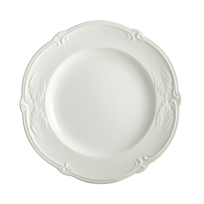 Gien France - Rocaille White Canape Plate