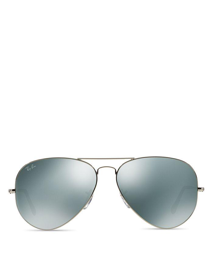 Ray-Ban - Unisex Mirrored Aviator Sunglasses, 62mm