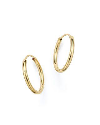 Bloomingdale's 14k Yellow Gold Endless Hoop Earrings