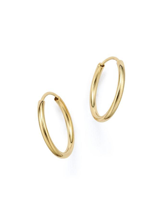 Bloomingdale's - 14K Yellow Gold Endless Hoop Earrings - 100% Exclusive
