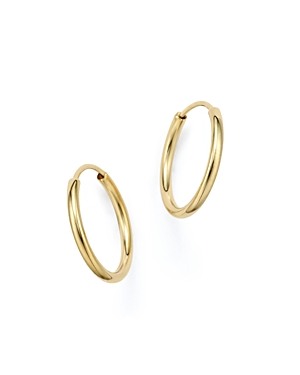 14K Yellow Gold Endless Hoop Earrings - 100% Exclusive