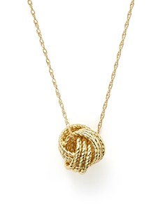 "Bloomingdale's - 14K Yellow Gold Love Knot Necklace, 18"" - 100% Exclusive"