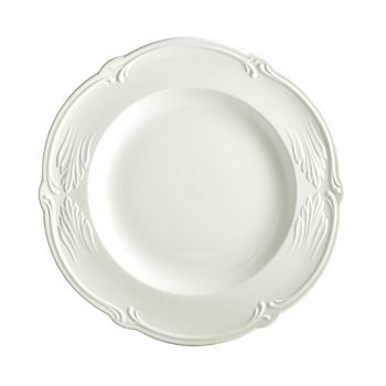 Gien France - Rocaille White Round Deep Dish