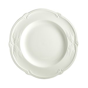 Gien France Rocaille White Round Deep Dish