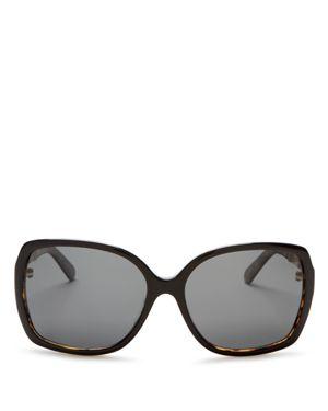 kate spade new york Darilyn Oversized Polarized Square Sunglasses, 58mm