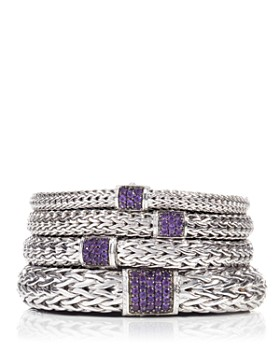 JOHN HARDY - Classic Chain Sterling Silver Lava Bracelet with Amethyst
