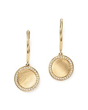Kc Designs Diamond Disc Drop Earrings in 14K Yellow Gold