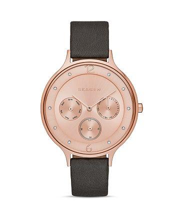 Skagen - Anita Leather Strap Watch, 36mm