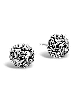 JOHN HARDY - Classic Chain Silver Knot Stud Earrings
