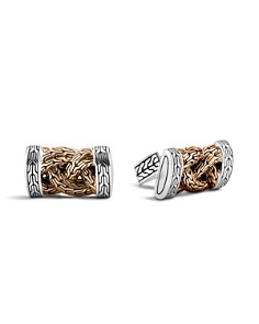 John Hardy Men's Classic Chain Bronze and Silver Braided Cufflinks - Bloomingdale's_0