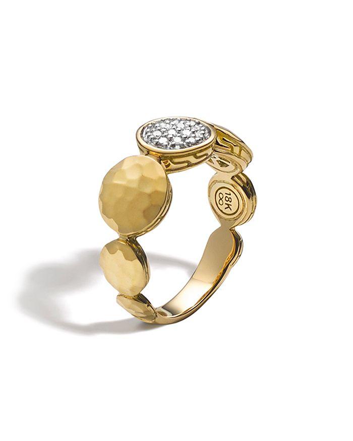 JOHN HARDY - Palu 18K Gold Diamond Pavé Ring, .10 ct. t.w.