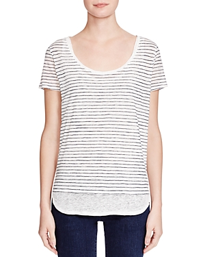 Majestic Filatures Striped Double Layer Tee
