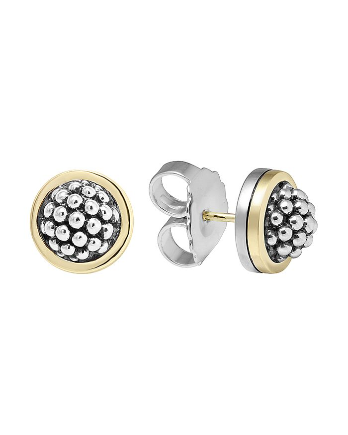 """LAGOS - Sterling Silver """"Caviar"""" Button Earrings"""