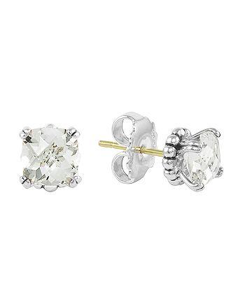 LAGOS - Sterling Silver Prism White Topaz Stud Earrings