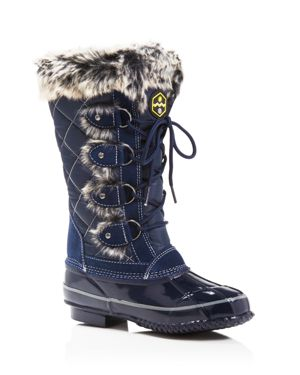 Khombu Jandice Faux-Fur Lace Up Cold Weather Boots
