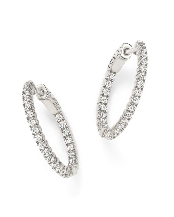 Bloomingdale's Diamond Inside Out Hoop Earrings in 14K White Gold, 1.0 ct. t.w.    Bloomingdale's