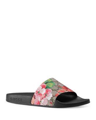 e16479b83ff Gucci Women s Pursuit Pool Slide Sandals