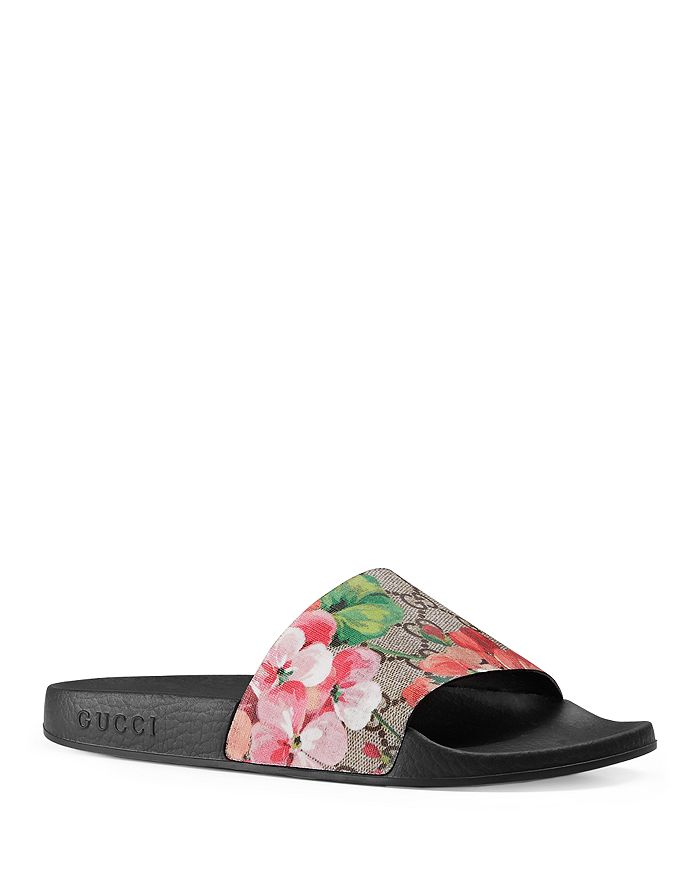 c52829f2f Gucci Women's Pursuit Pool Slide Sandals | Bloomingdale's