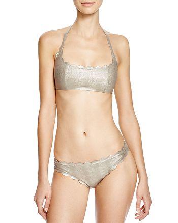 PilyQ - Oro Seamless Wave Bikini Top & Seamless Wave Bikini Bottom