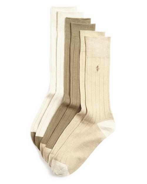 Polo Ralph Lauren - Ribbed Dress Socks, Pack of 3