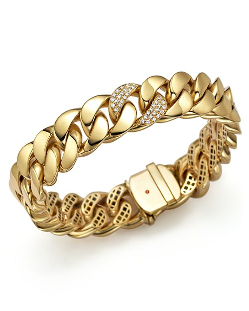 Roberto Coin - 18K Yellow Gold Link Bracelet with Diamonds