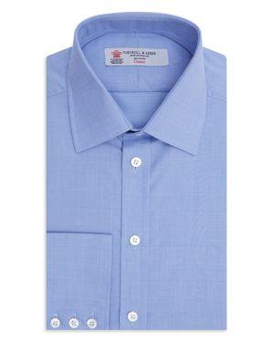 Turnbull & Asser Prince of Wales Plaid Classic Fit Dress Shirt