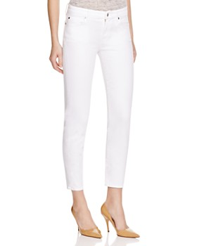 b4fa0fa8 7 For All Mankind - Kimmie Crop Skinny Jeans in Clean White ...