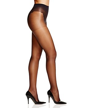 HUE - French Lace Control Top Sheer Tights