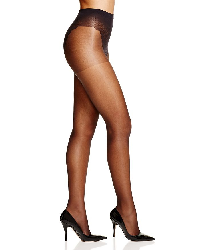 481c891b1f6d8 HUE French Lace Control Top Sheer Tights | Bloomingdale's
