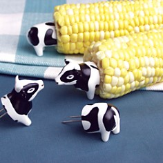 Charcoal Companion - Cow Corn Holders, Set of 4