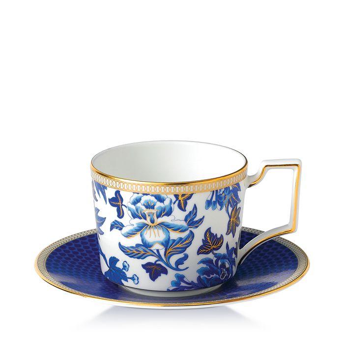 Wedgwood - Hibiscus Teacup & Saucer