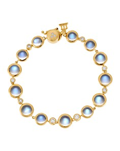 Temple St. Clair 18K Yellow Gold Single Round Bracelet with Royal Blue Moonstone and Diamond - Bloomingdale's_0