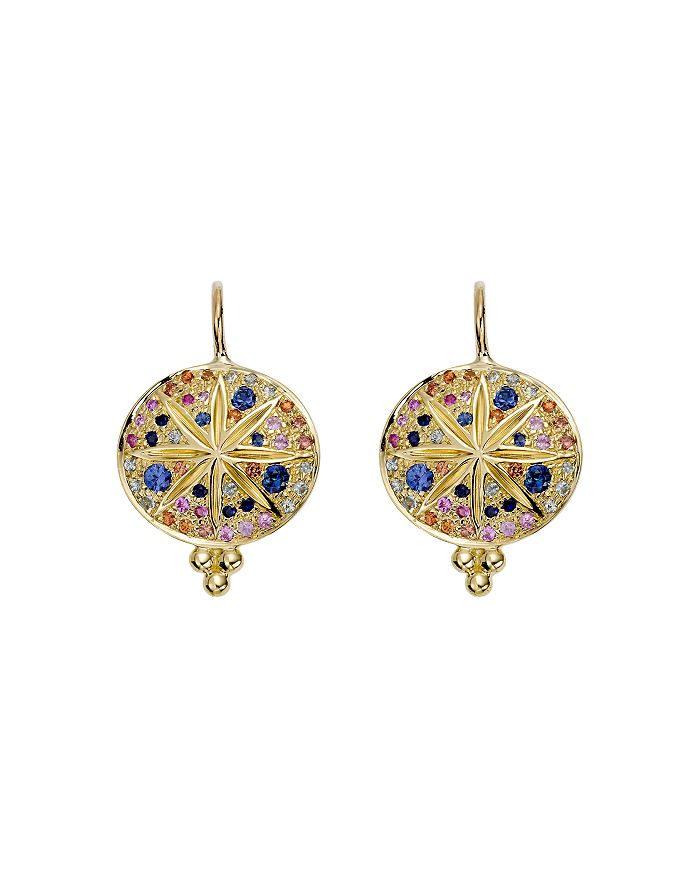 Temple St. Clair - 18K Yellow Gold Pavé Sorcerer Earrings