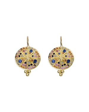 Temple St. Clair 18K Yellow Gold Pave Sorcerer Earrings