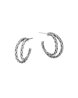 John Hardy Classic Chain Silver Small Hoop Earrings