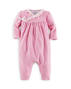 Ralph Lauren Childrenswear Girls Interlock Wrap Stripe Coverall  Baby