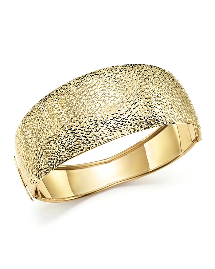 Bloomingdale's - 14K Yellow Gold Domed Hinge Bangle - 100% Exclusive
