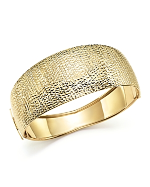 14K Yellow Gold Domed Hinge Bangle - 100% Exclusive