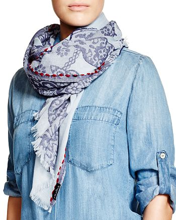 Fraas - Paisley Border Stitch Scarf