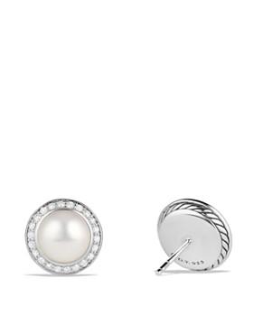 David Yurman Albion Pearl Earring With Diamonds
