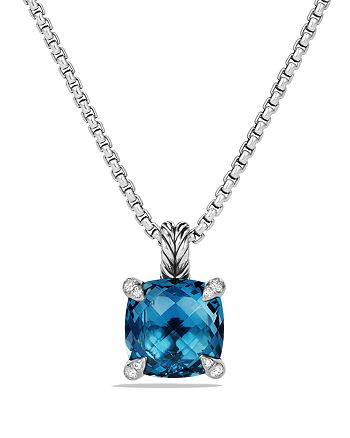 David Yurman - Châtelaine Pendant Necklace with Hampton Blue Topaz and Diamonds