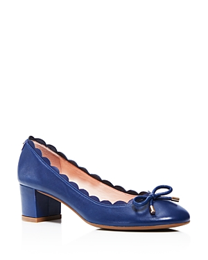 kate spade new york Yasmin Scalloped Block Heel Pumps