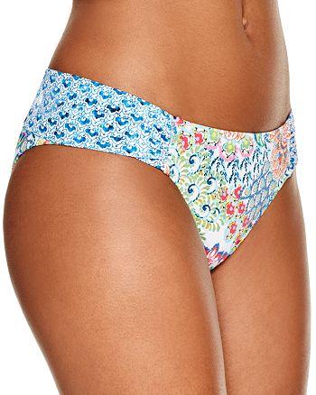 Profile Blush by Gottex - Peacock Side Tab Bikini Bottom