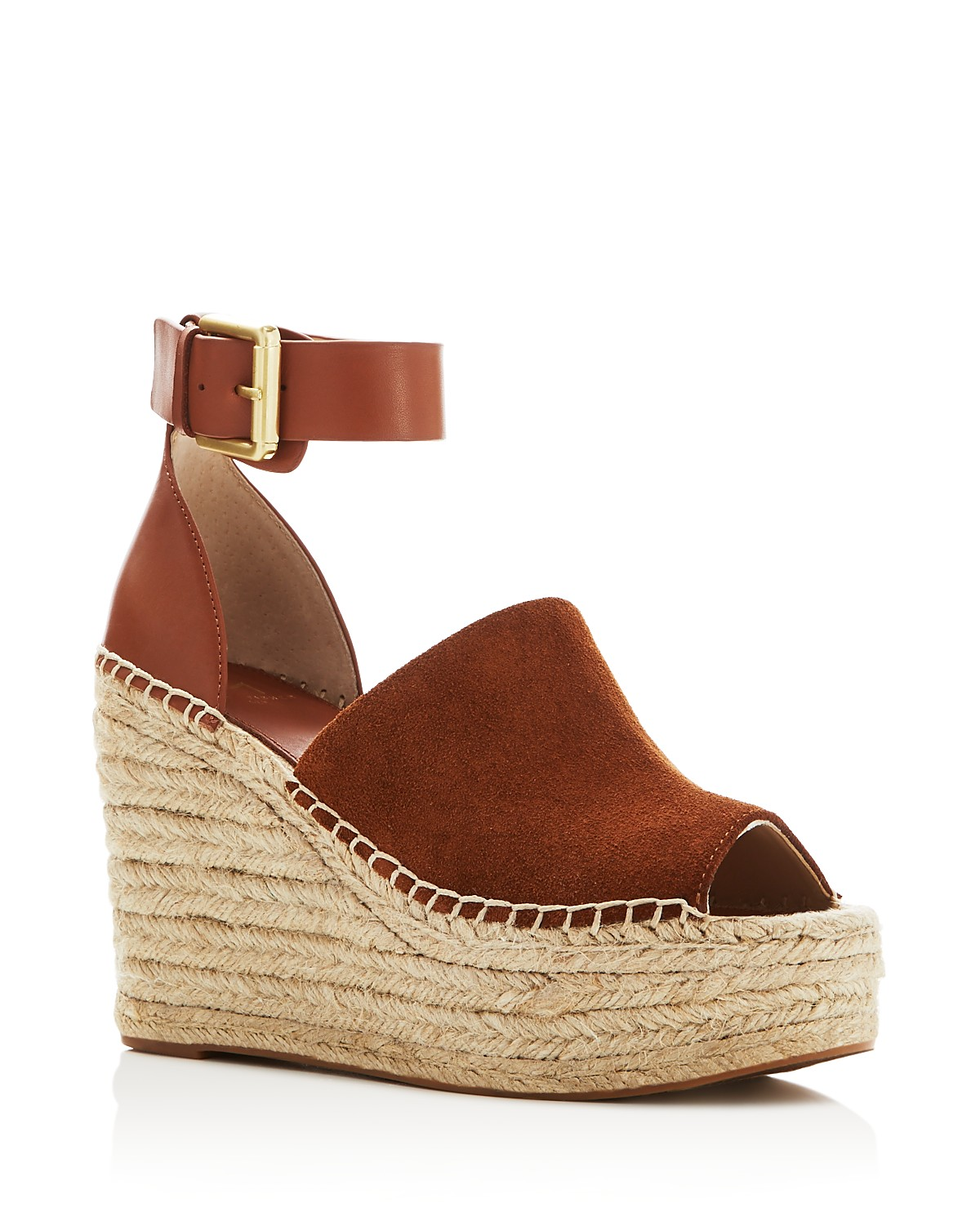 MARC FISHER Women's Adalyn Ankle Strap Espadrille Platform Wedge Sandals jlkrh7lD9