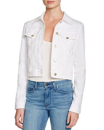 J Brand - Harlow Trucker Denim Jacket in White