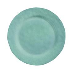 Merritt - Stamped Crackle Round Melamine Dinner Plate