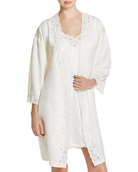 Ralph Lauren - Signature Collection Satin Wrap Robe & Chemise
