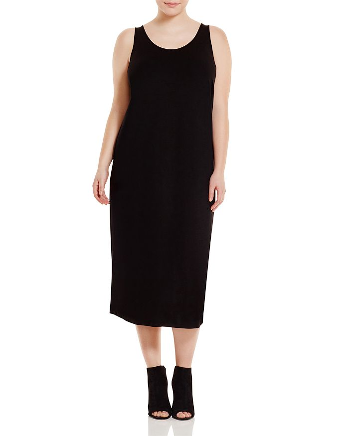 Eileen Fisher Plus - Scoop Neck Maxi Dress