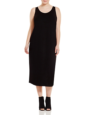 Eileen Fisher Plus System Scoop Neck Maxi Dress plus size,  plus size fashion plus size appare